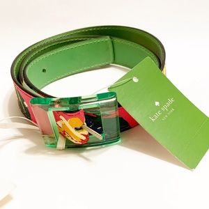 💗RARE💗KATE SPADE MADE IN ITALY LEATHER BELT